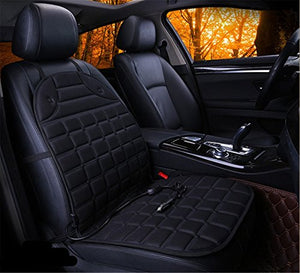 Admirable Fochutech Automotive 12V Heated Car Seat Cushion Cover Heater Pad Comfortable Adjustable Temperature Heating Warmer Winter Grid Single Seat Black Gamerscity Chair Design For Home Gamerscityorg