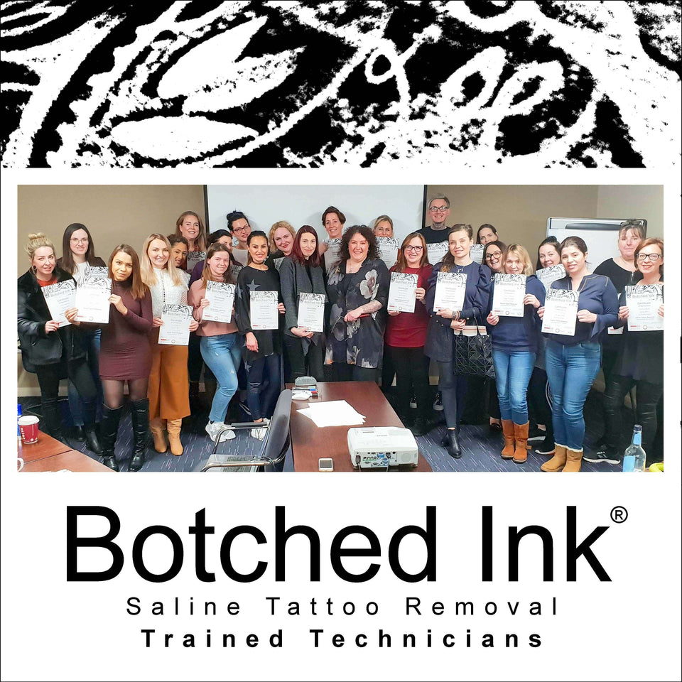 Botched Ink® Saline Tattoo Removal Training Course, Workshop, learn to remove bad eyebrow tattoo