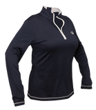 Ladies' Cutter & Buck DryTec™  Choice Zip Mock in NAVY
