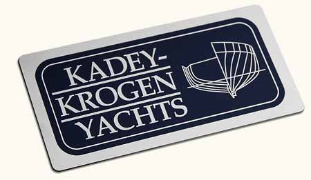 Kadey-Krogen 316L Stainless Steel Emblem with Logo