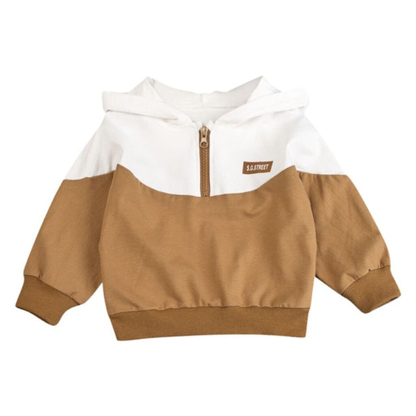 Toddler Baby Kids Boys Hooded Pullover Sweatshirt T-shirt Tops Clothes