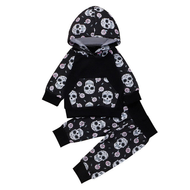Toddler Halloween Skull Outfit
