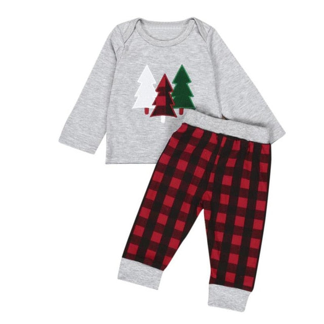 Plaid Tree Pajama Set