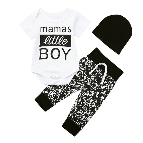 Mama's Boy Black + White outfit with hat