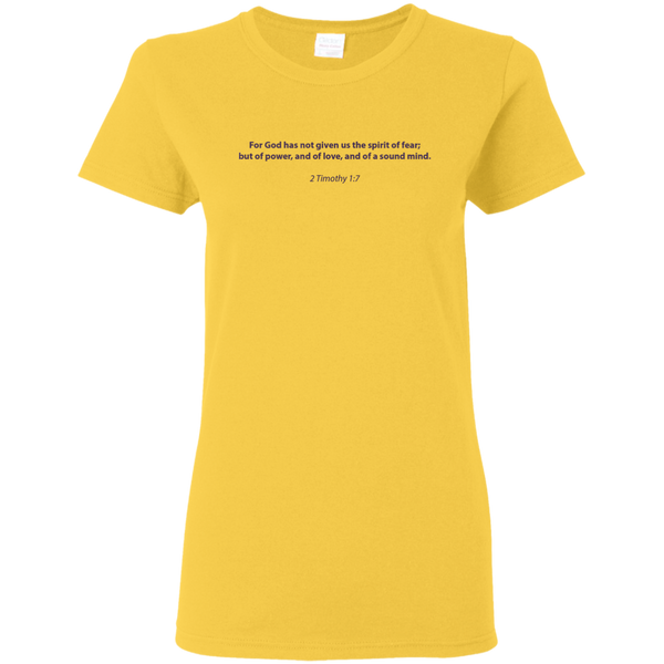 Christian T-Shirt - 2 Timothy 1:7