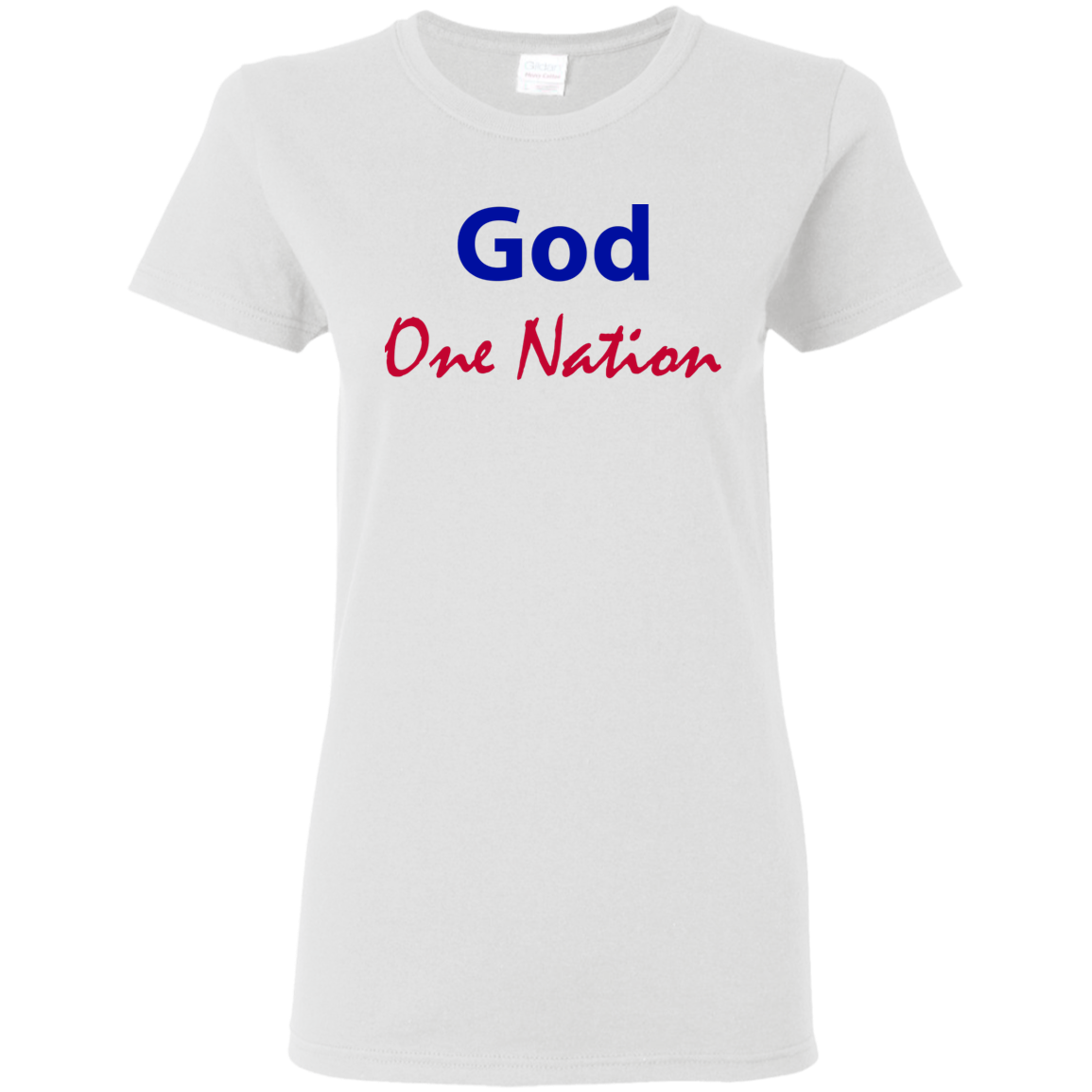 One Nation Under God Ladies  T-Shirt