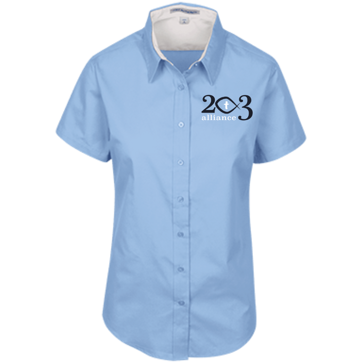 203 Alliance Ladies' Short Sleeve Easy Care Shirt