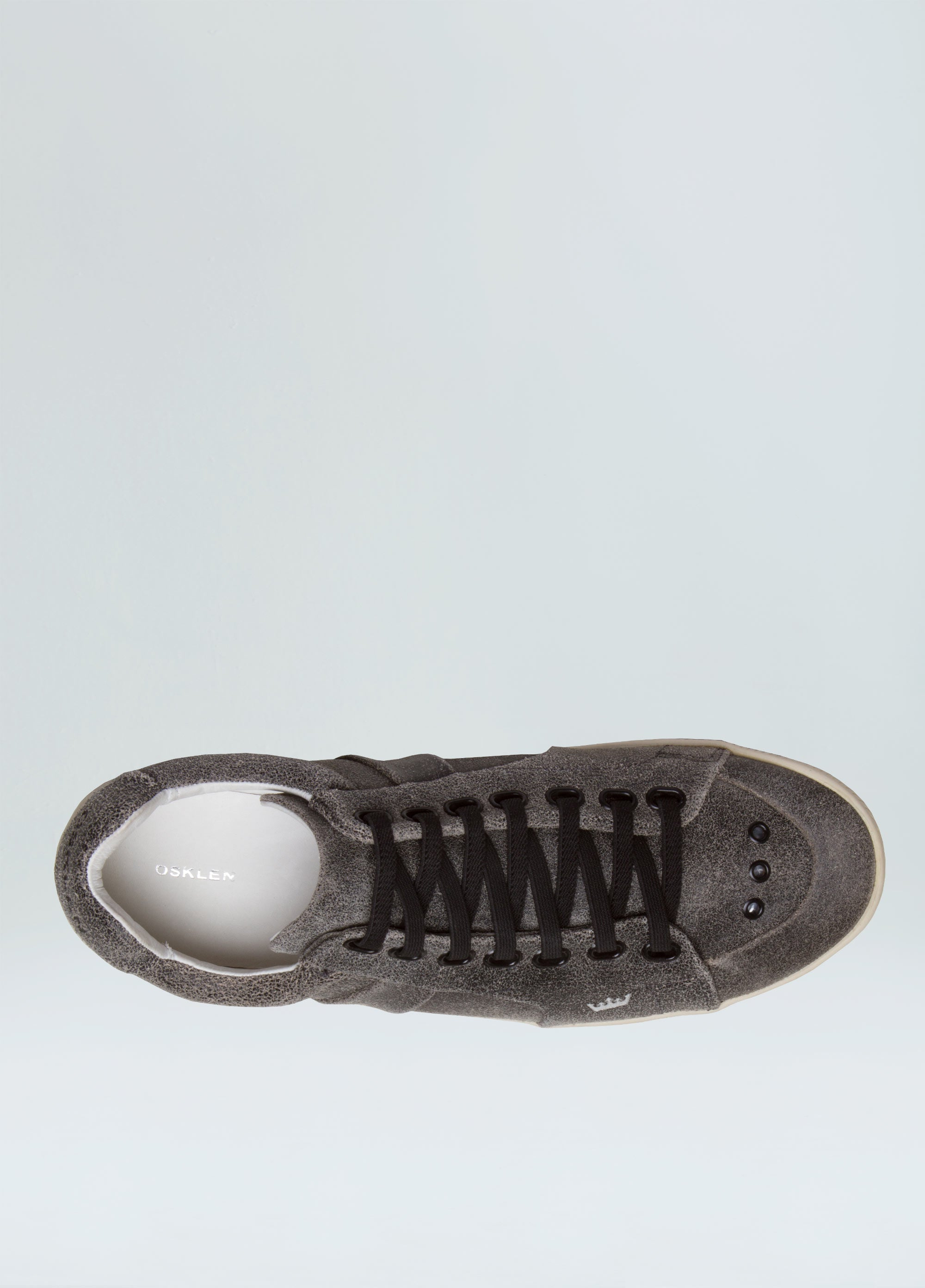 MENS ELASTIC WORN OUT LEATHER SNEAKERS