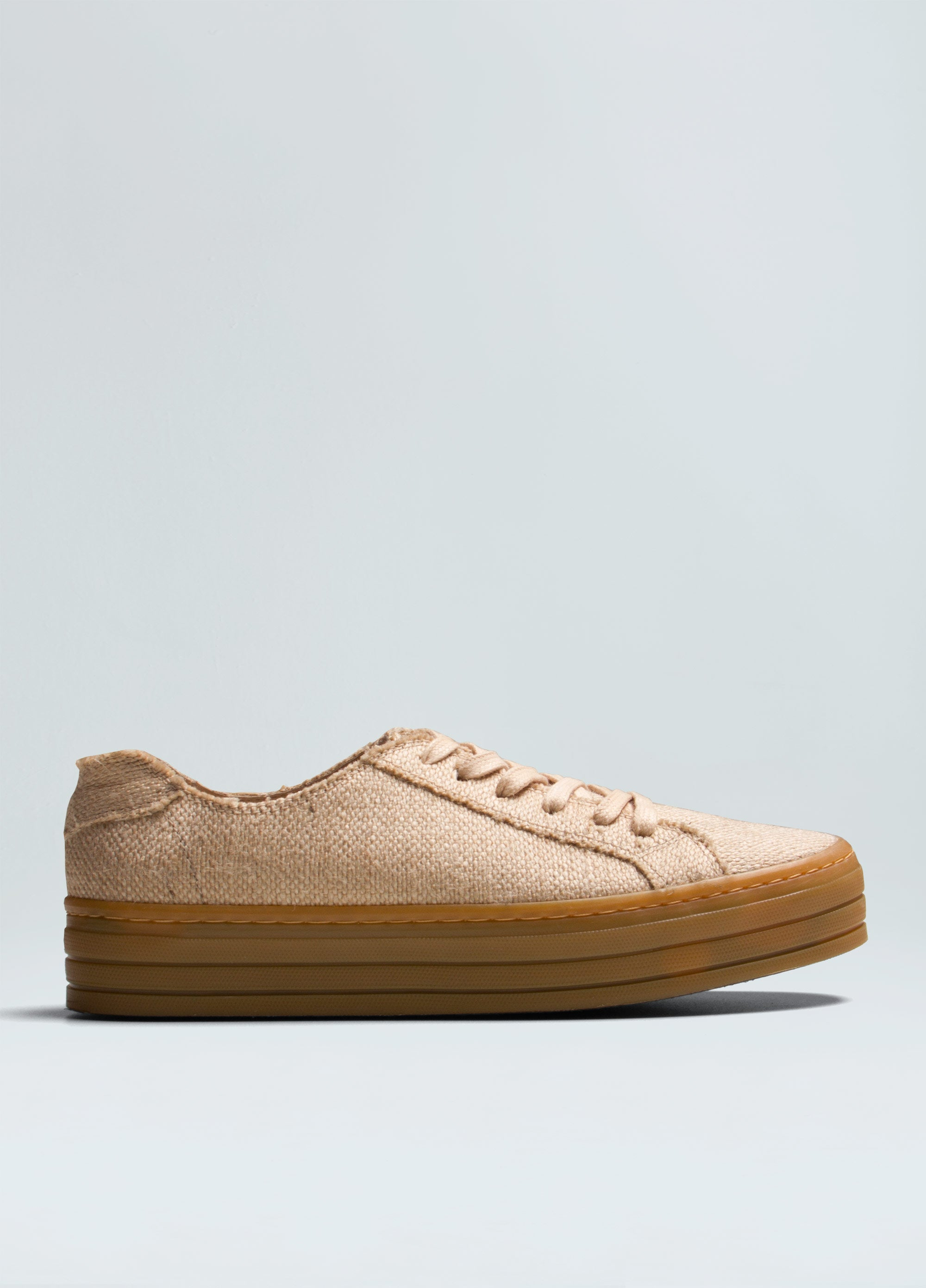 Jute Flatform Canvas Sneakers
