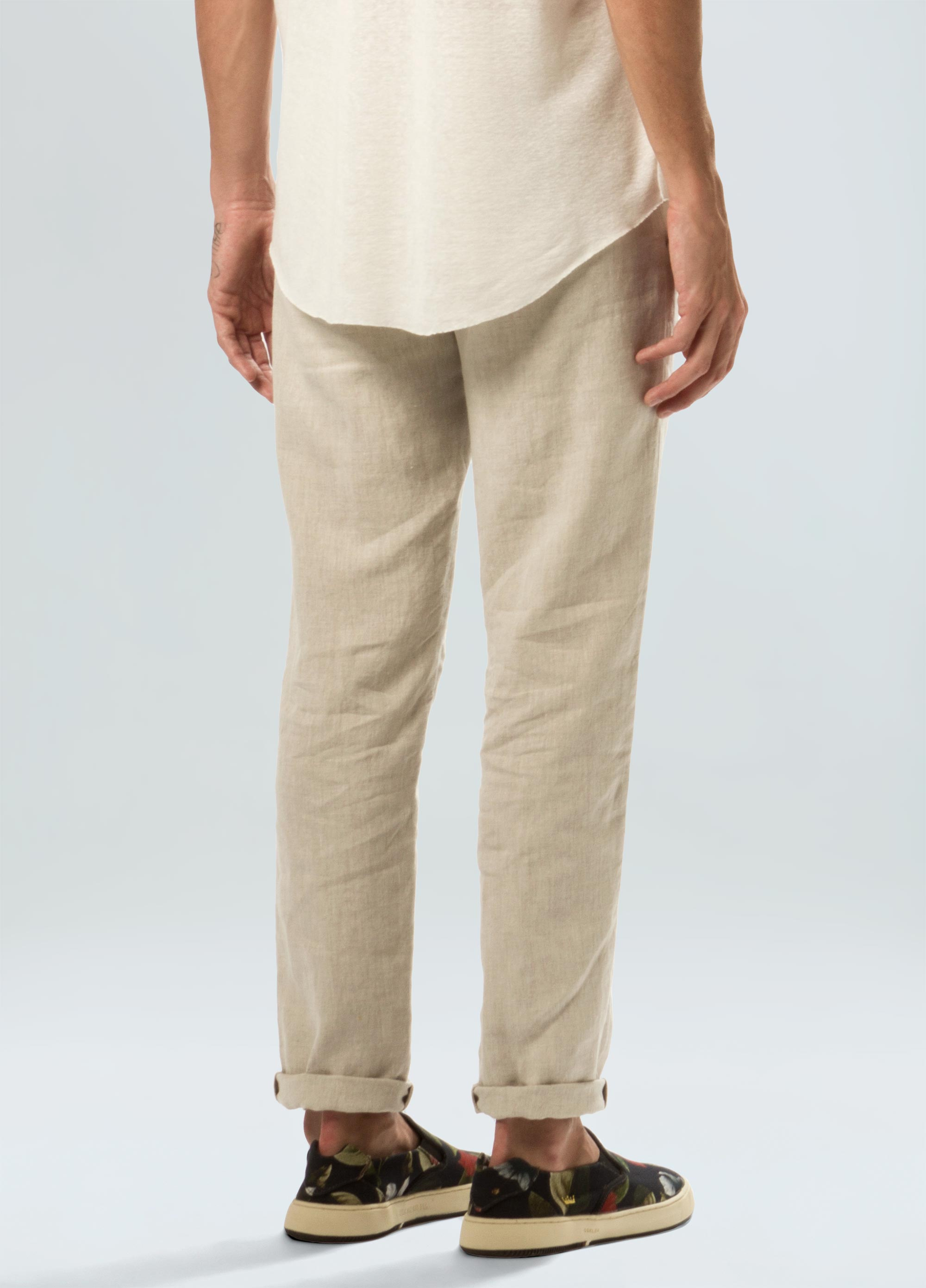 CLASSIC LINEN TAILORED PANTS