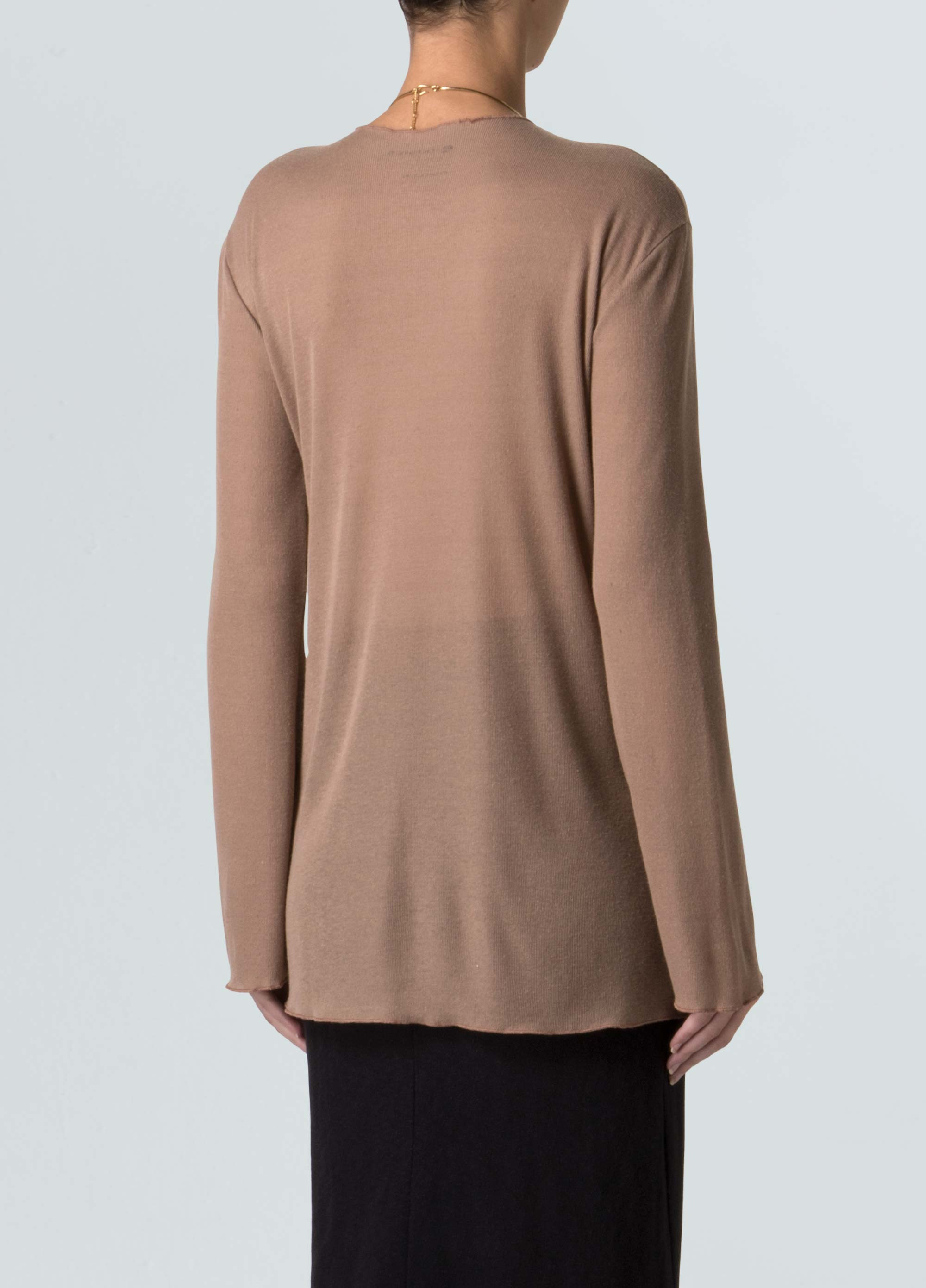 E-Basics Thin Rib Long Sleeve Shirt