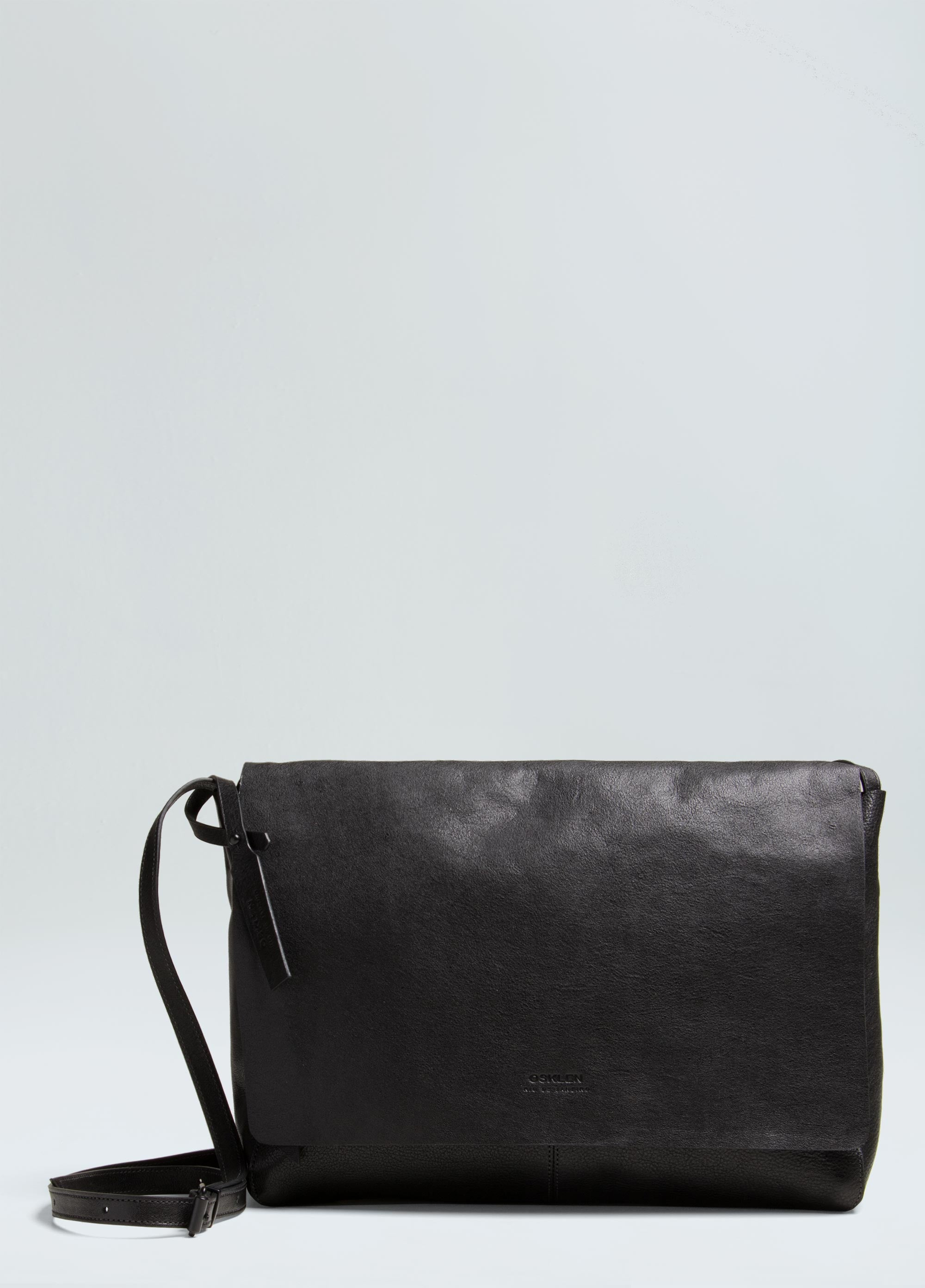 CROSSBODY E-BASICS LEATHER BAG