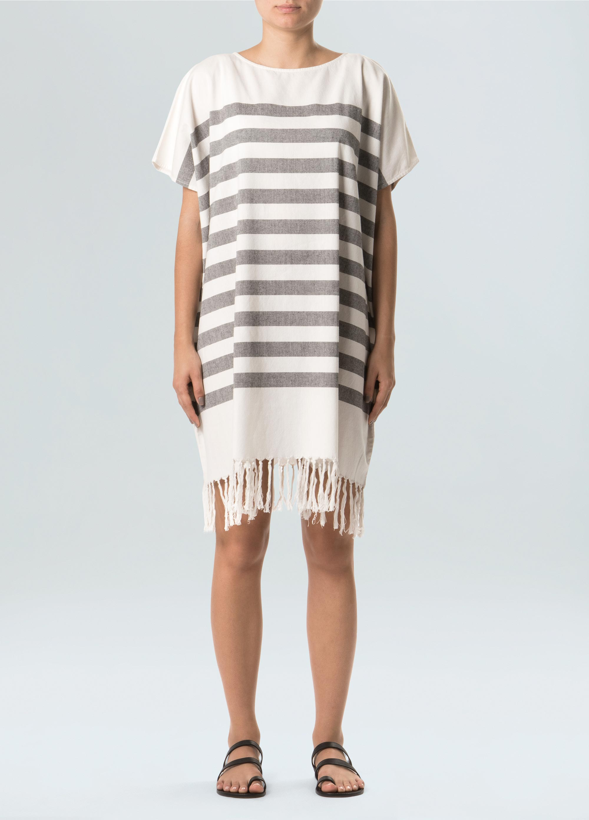 Women's Basic Stripes Beach Dress