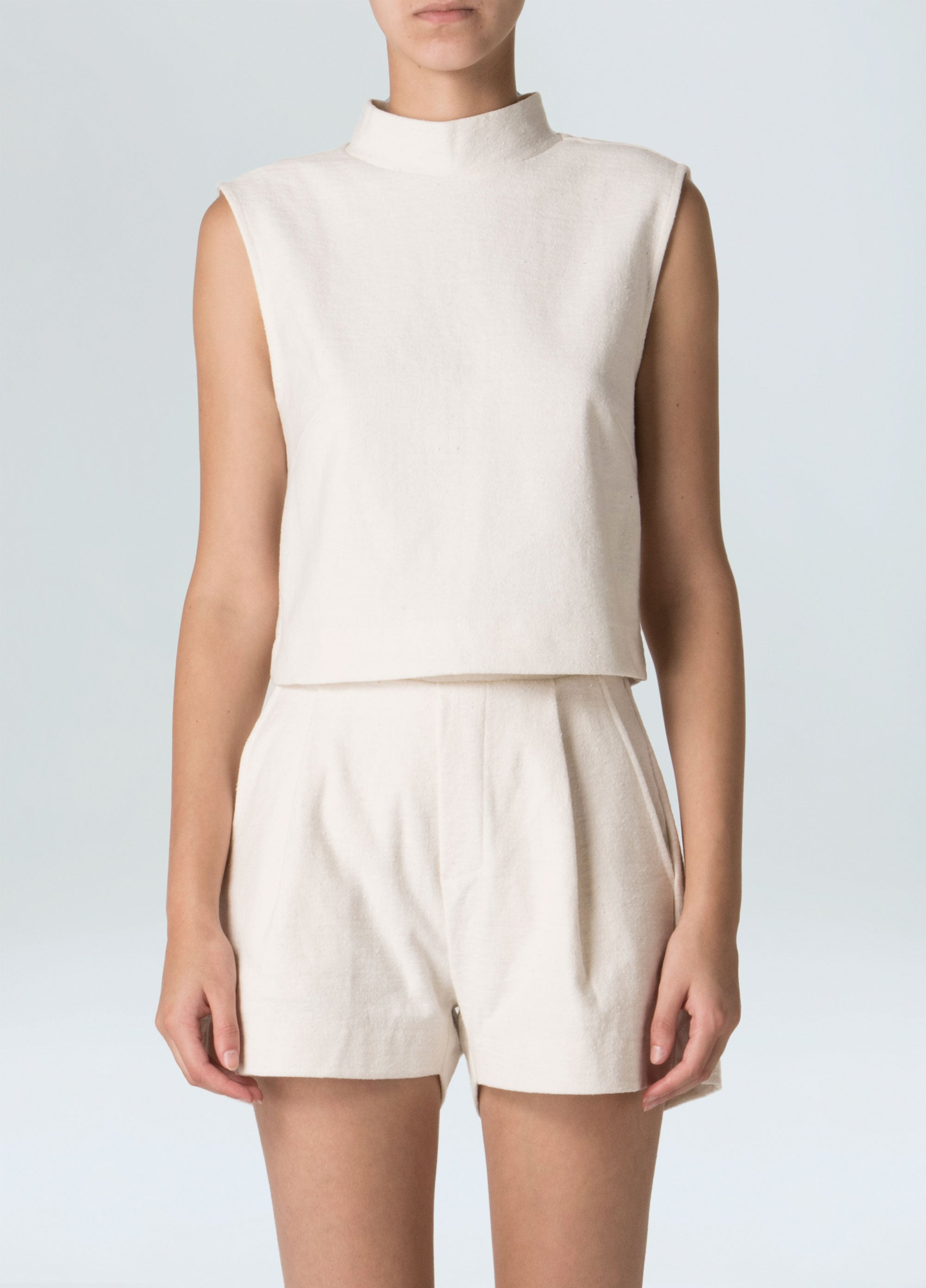 Women's Eco Raw Cropped Top