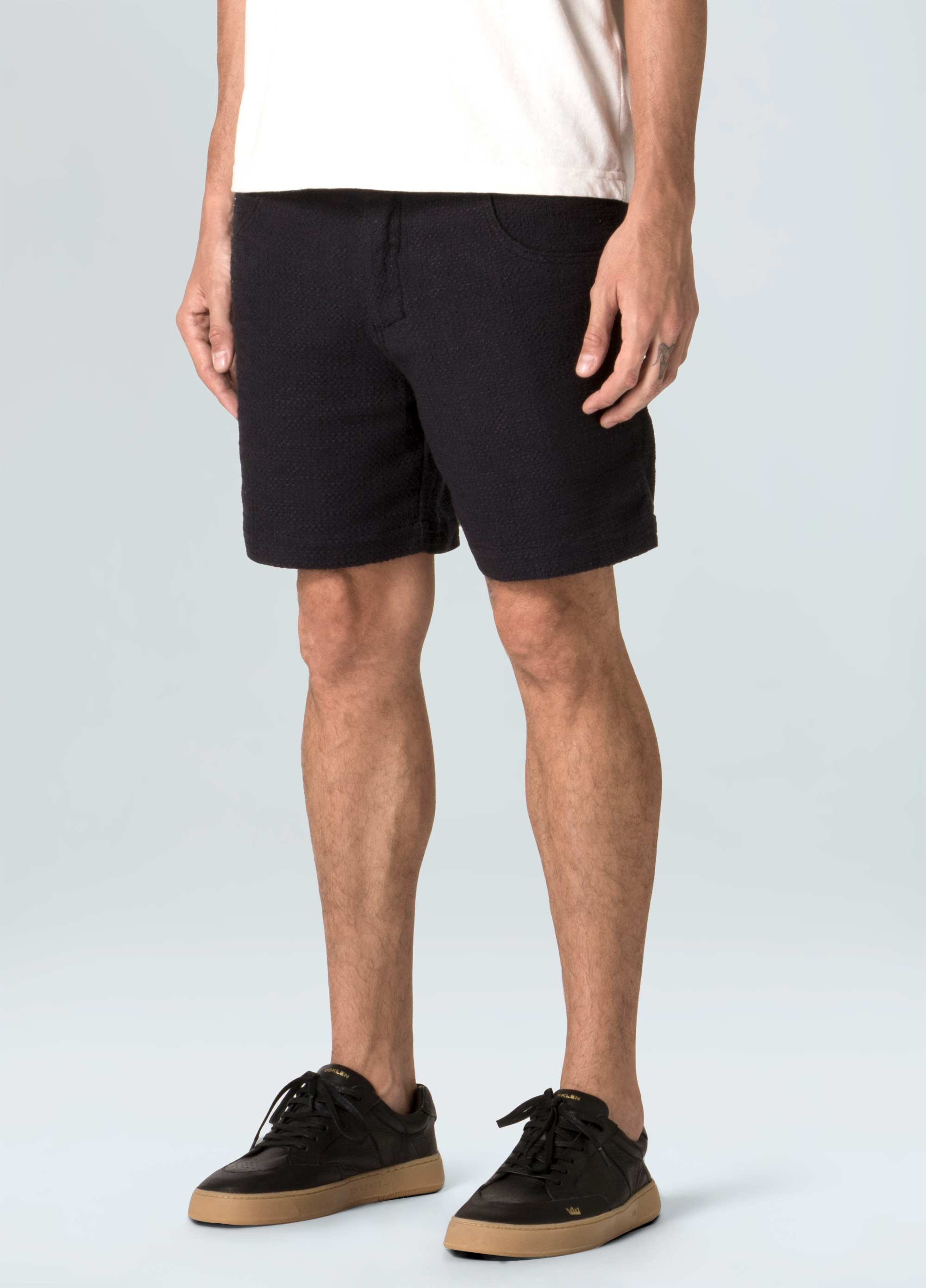 5 Pockets Rough Texture Shorts