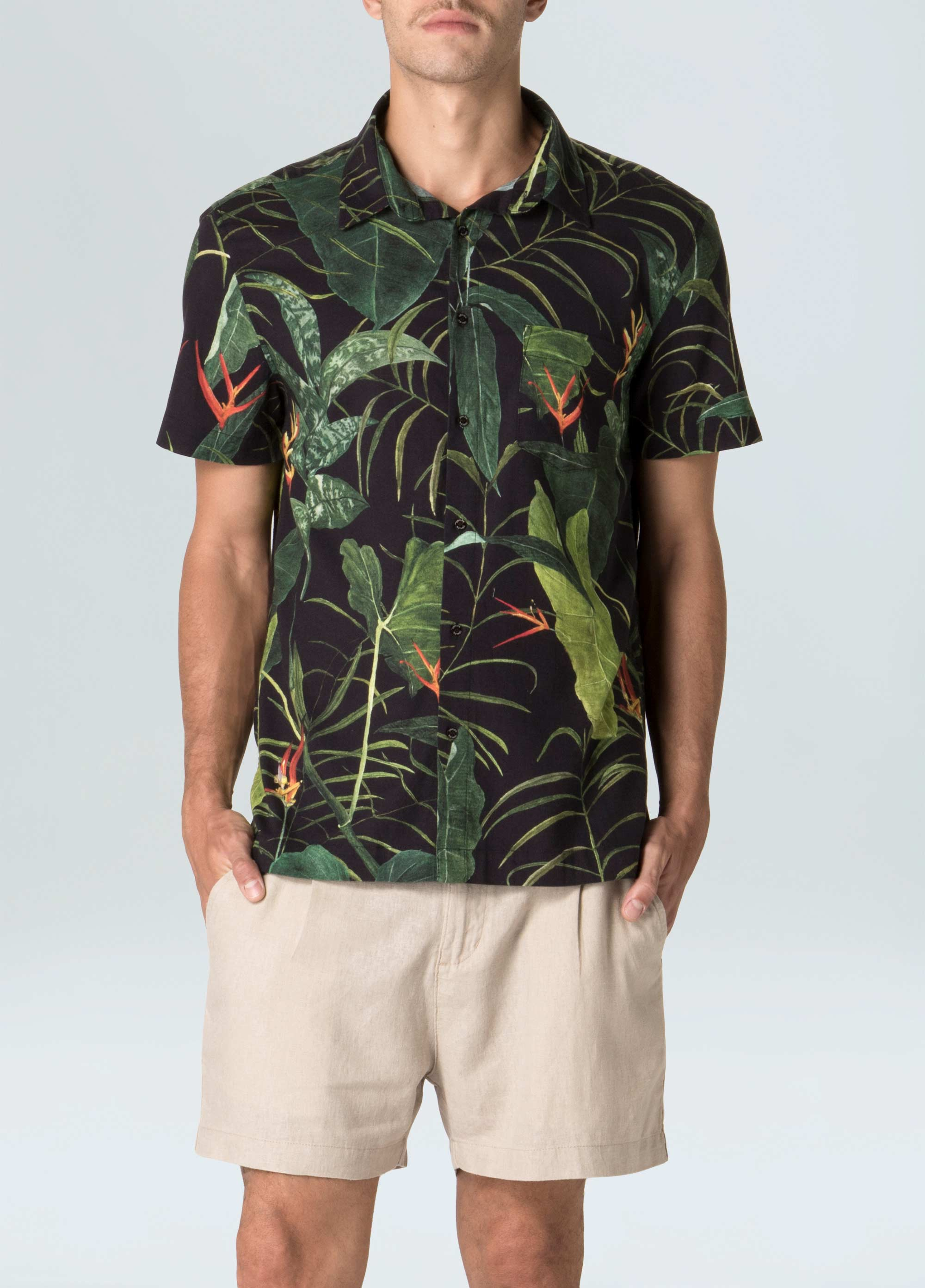 Tailored Heliconia shirt