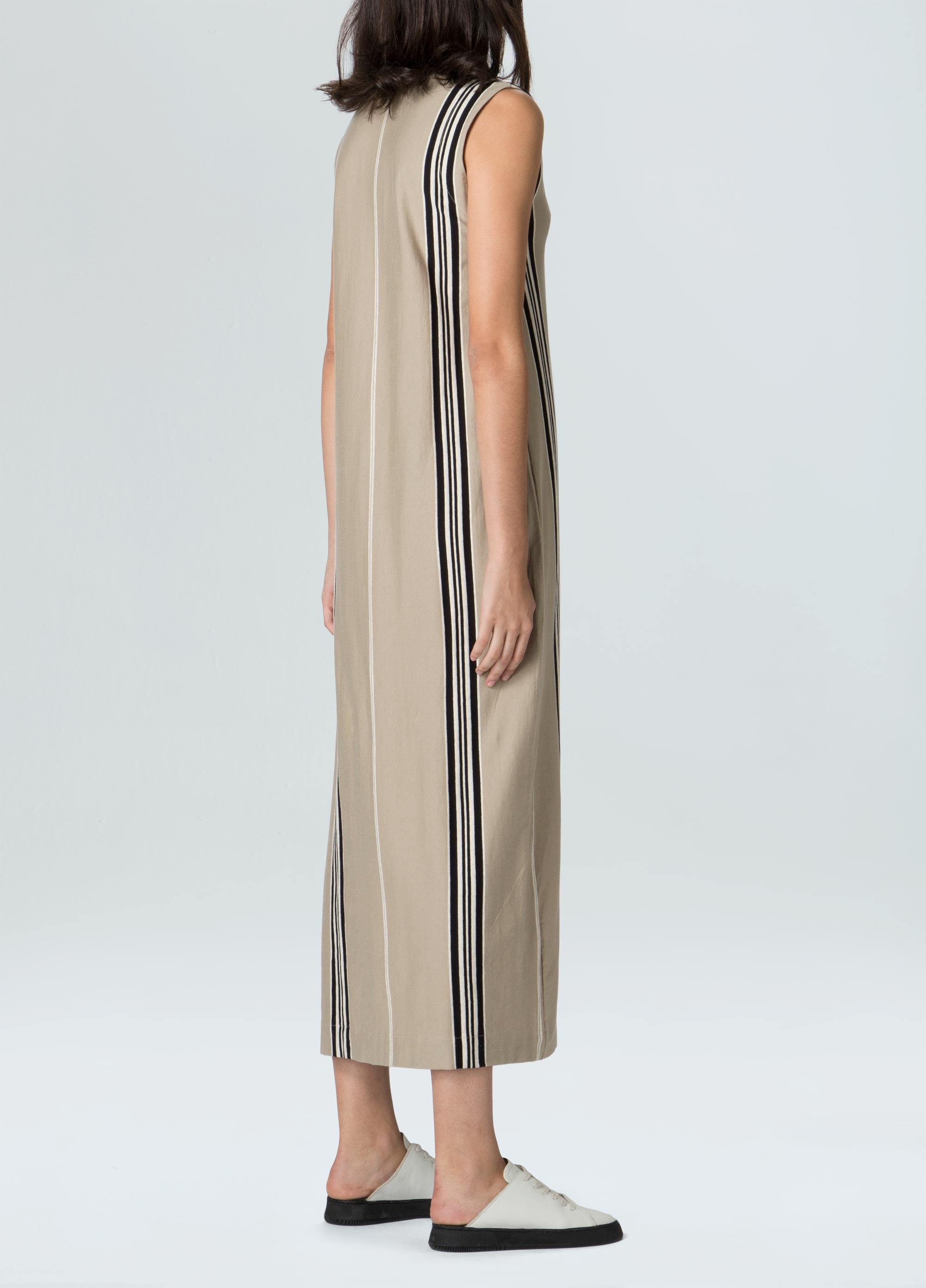 Raw Stripe Midi Dress
