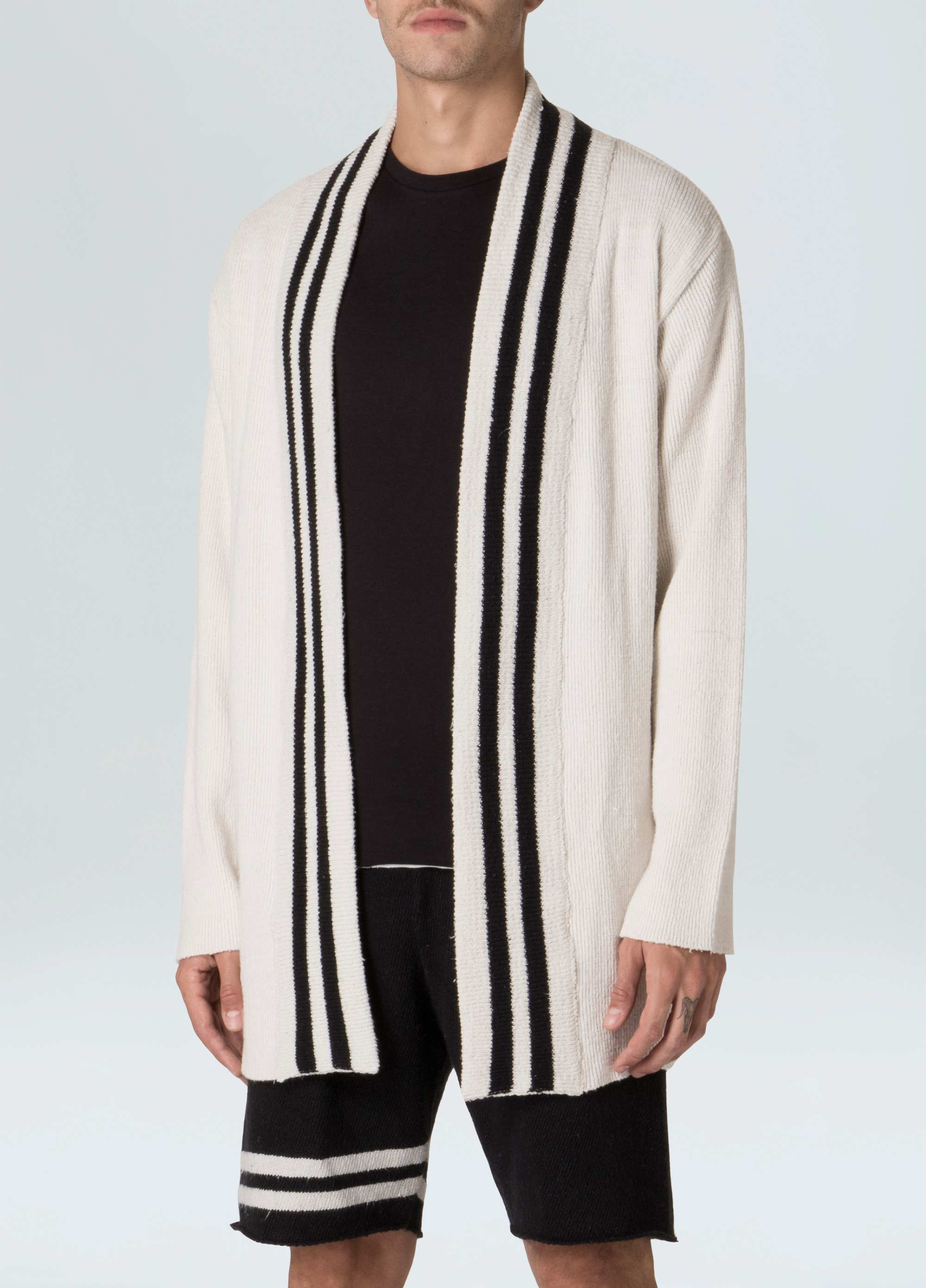 E-Fabric Striped Knit Cardigan
