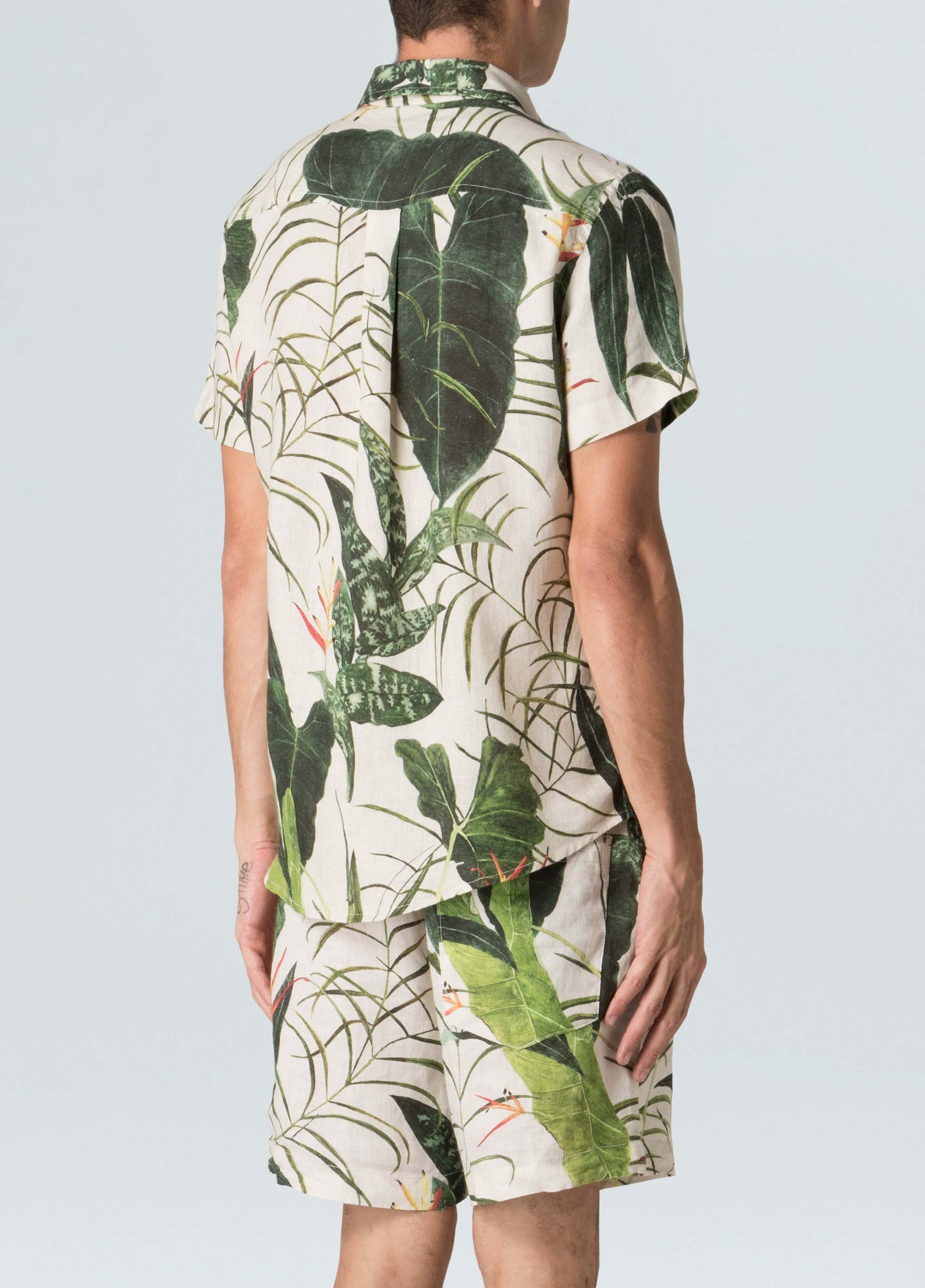 Linen Heliconia Shirt