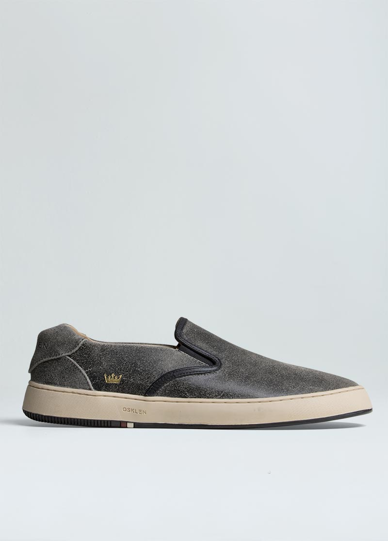 BOSSANOVA  WORN OUT LEATHER  SNEAKERS