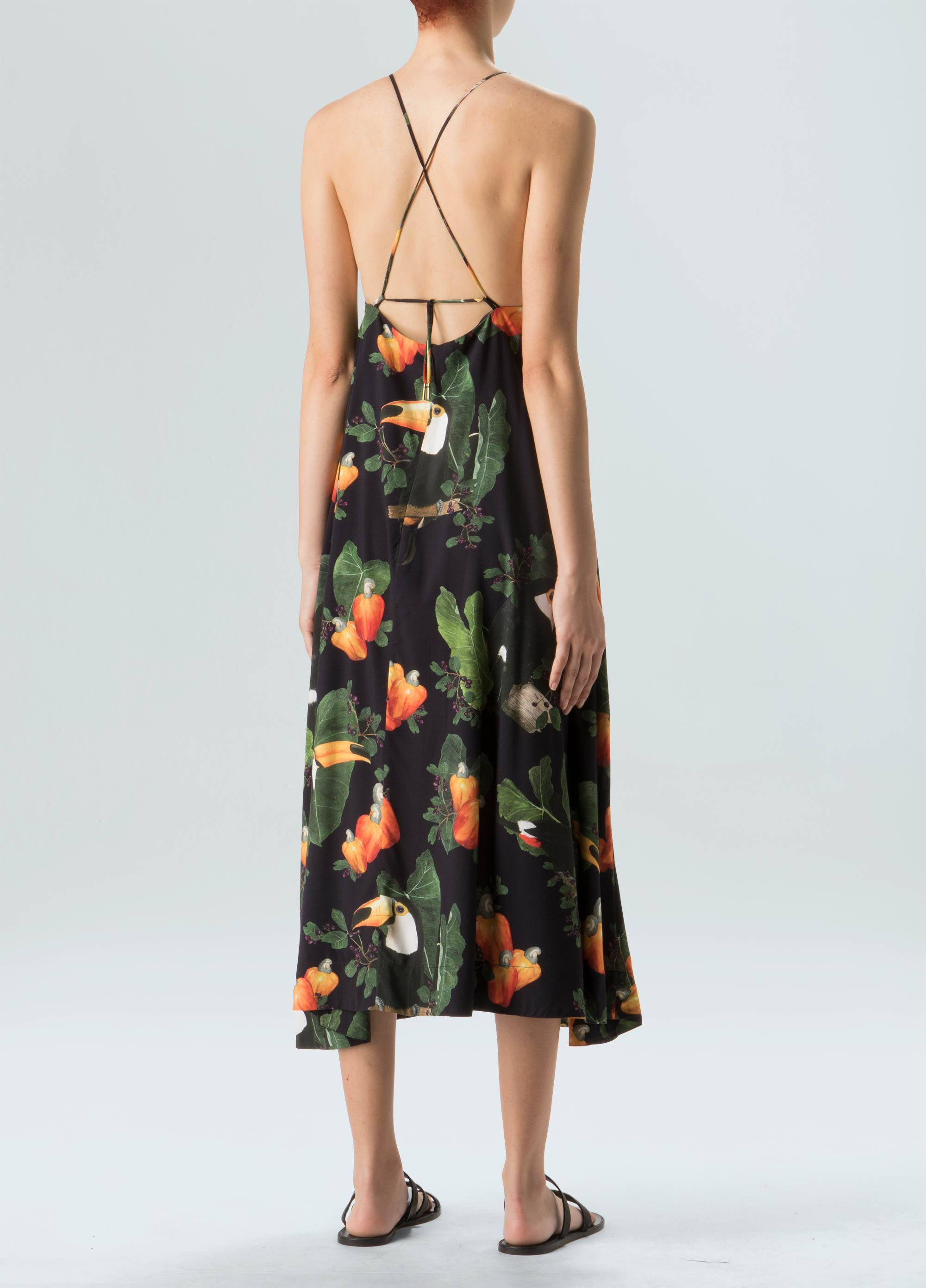 Cashew Black Flares Dress