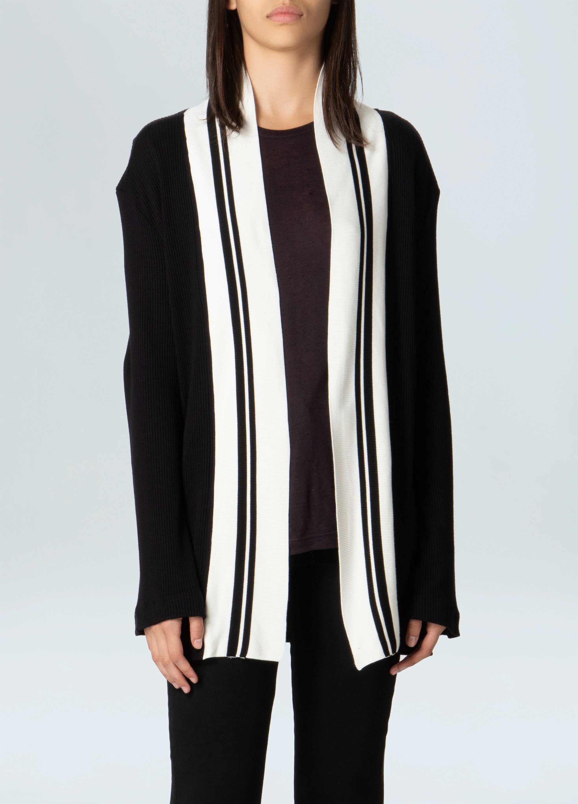 WOMENS KNIT DETAIL BLAZER