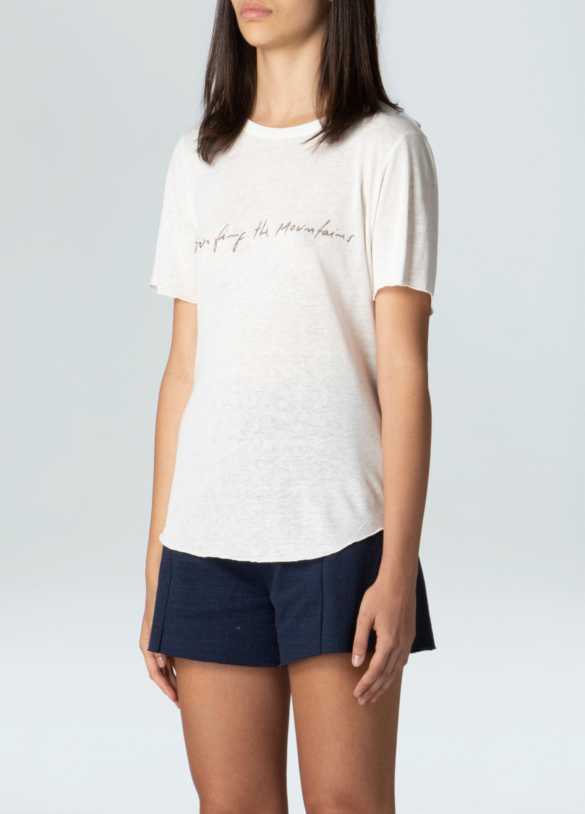 WOMENS SURFING THE MONTAINS ECO T-SHIRT