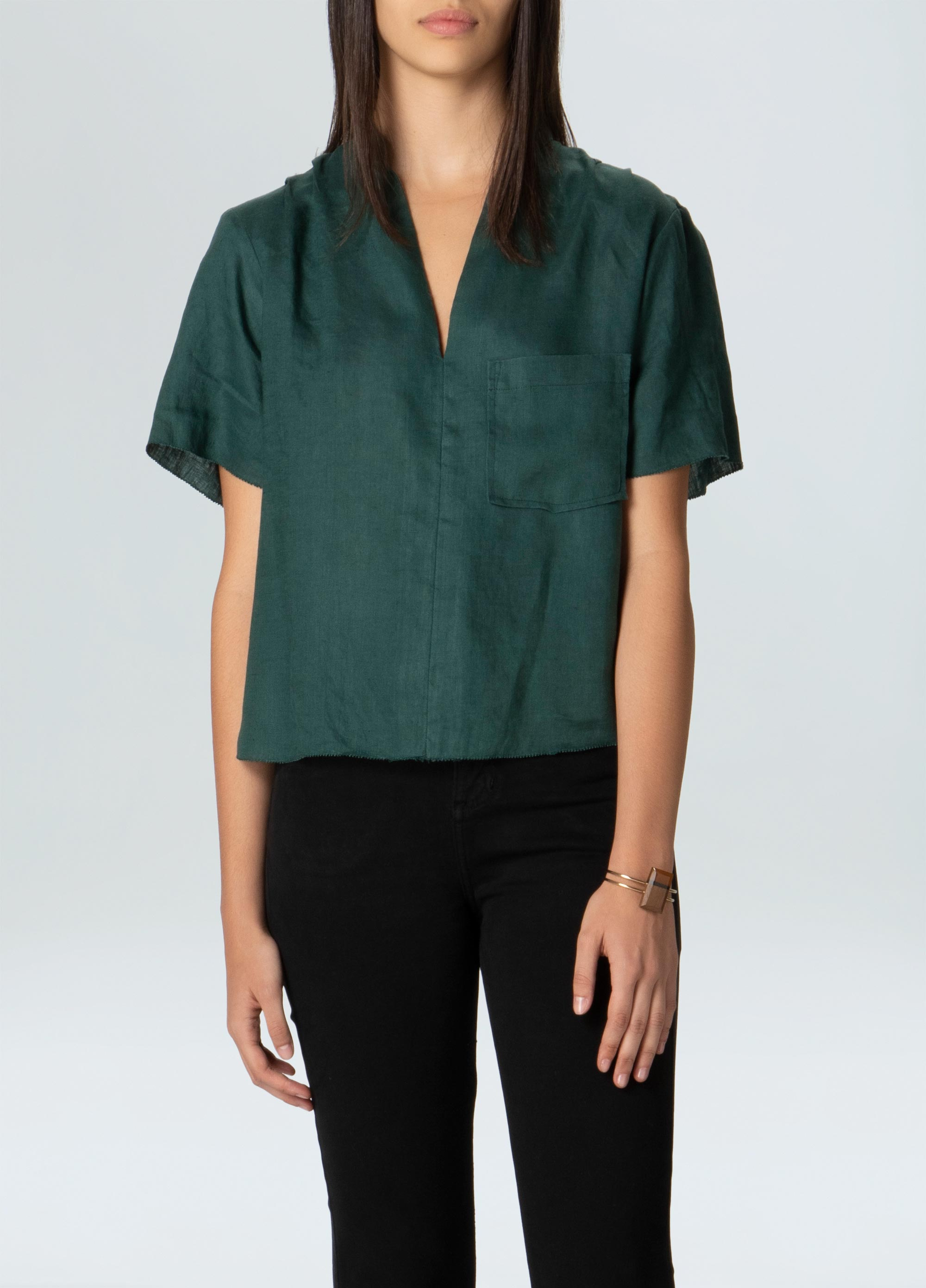 BROAD LINEN SHIRT