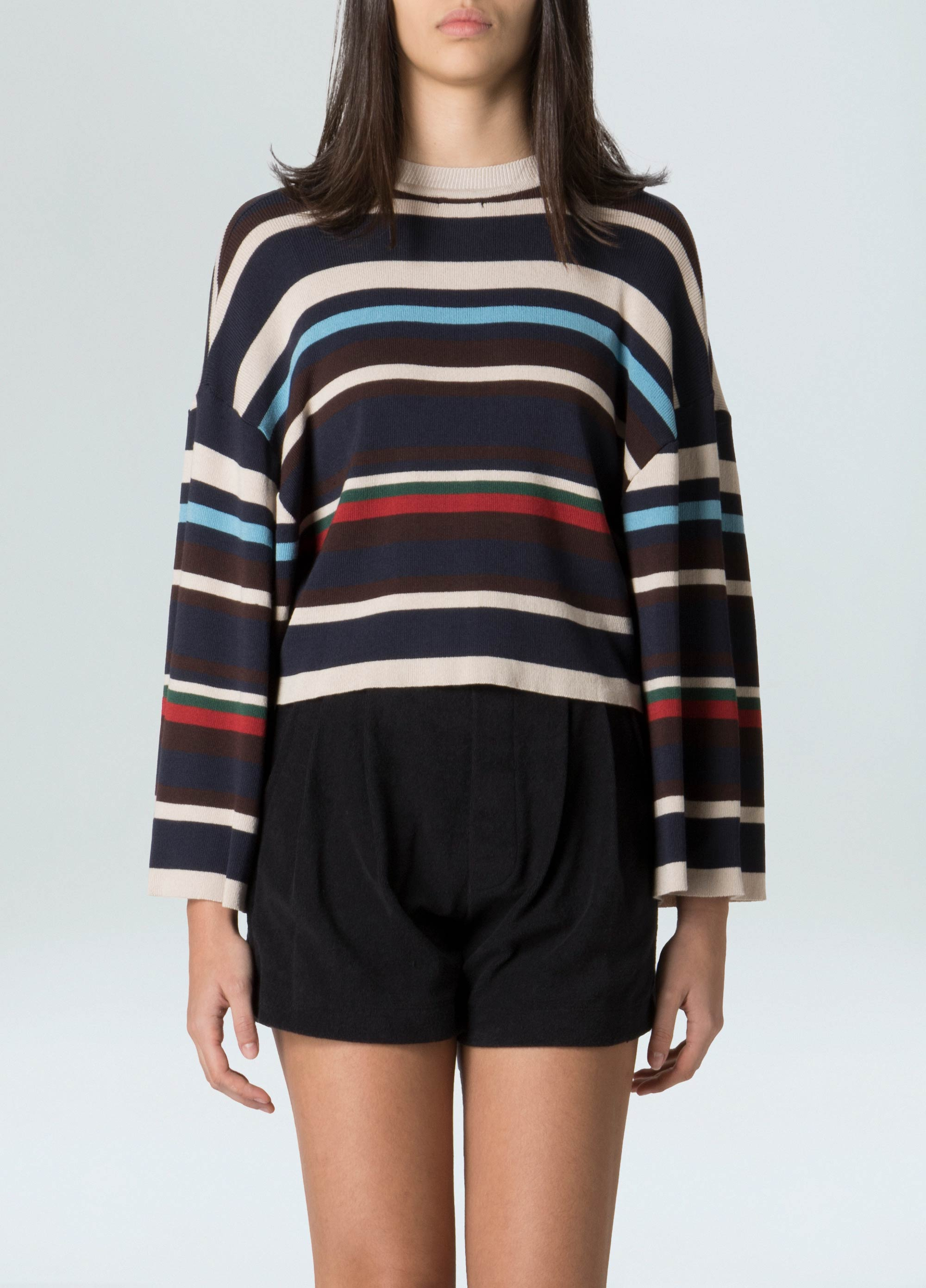 WOMENS MIX STRIPED SHIRT