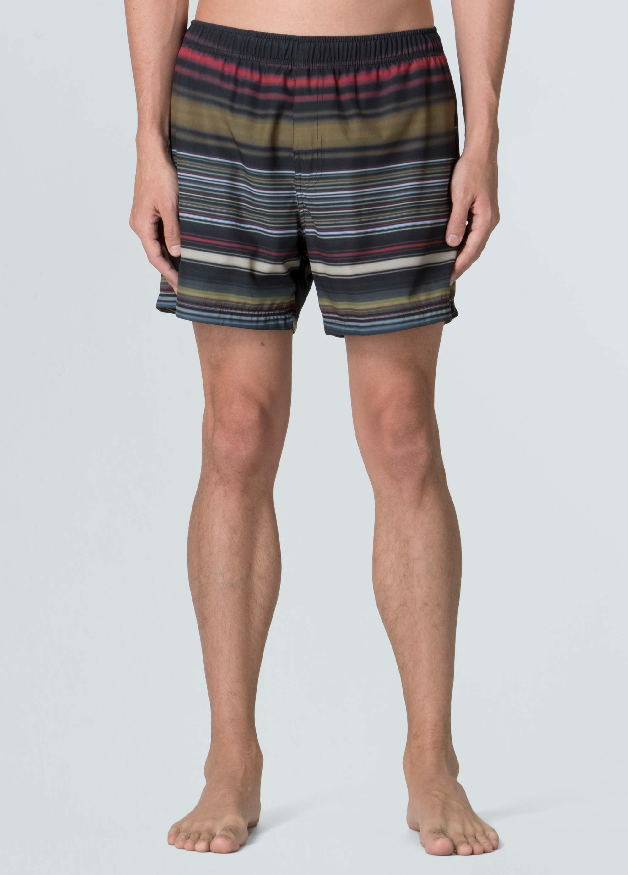 BLUR STRIPED SHORTS