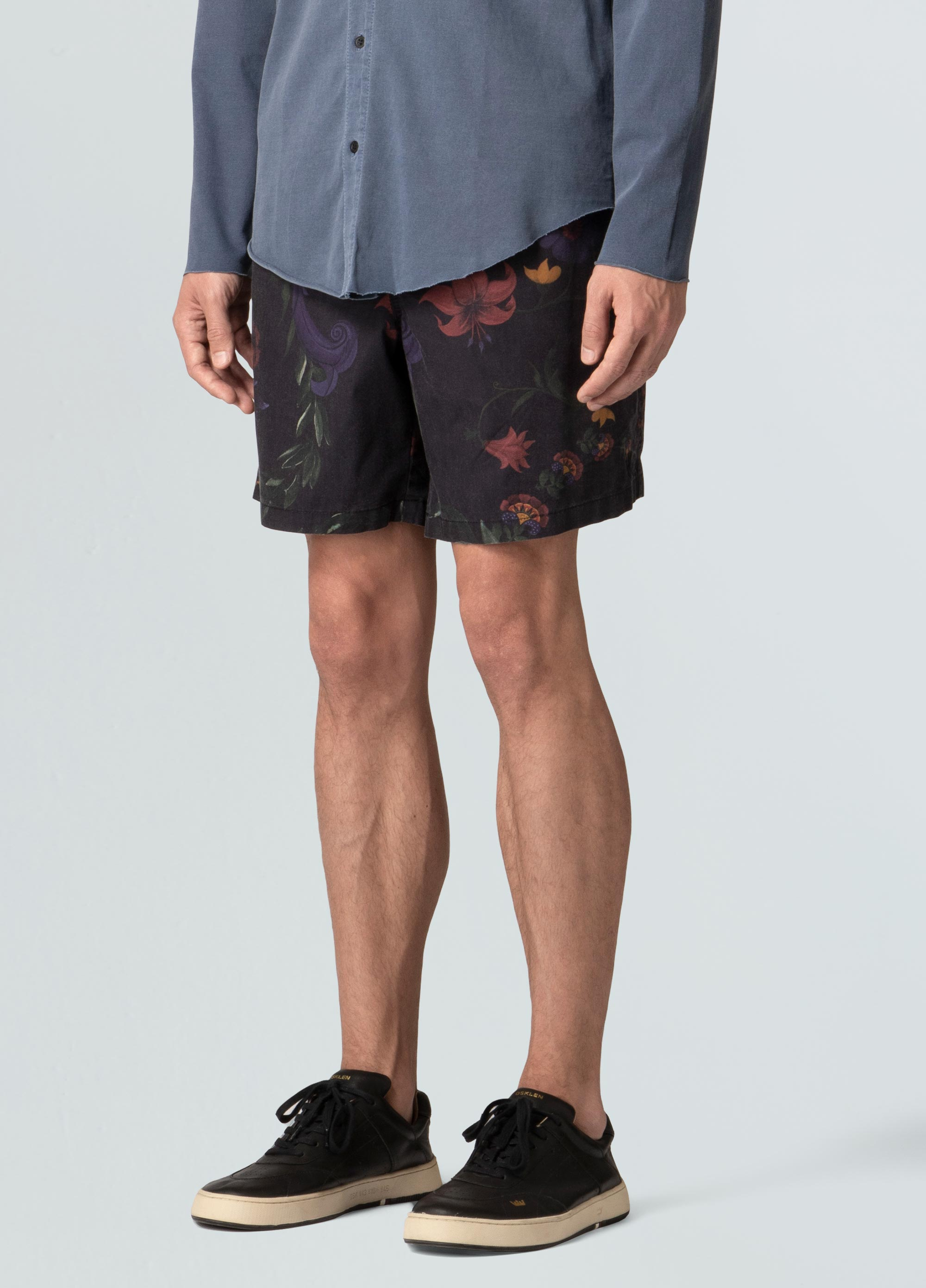 FLORAL GUACHE  CASUAL SHORTS