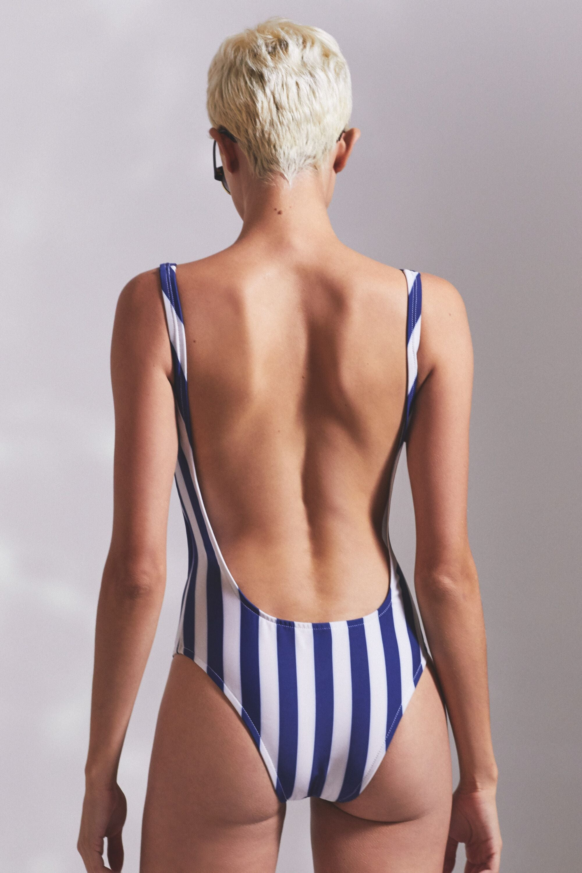 Women's Striped One Piece Swimsuit
