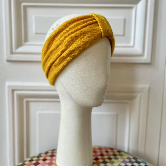 Headband maille mousseuse 100% cachemire