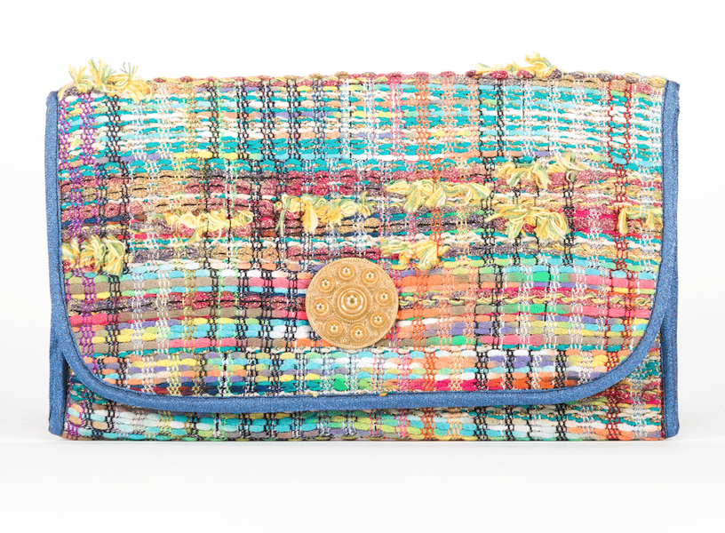 Pochette Alexandre Evesome en tweed d'été - Alexandre Evesome summer tweed clutch