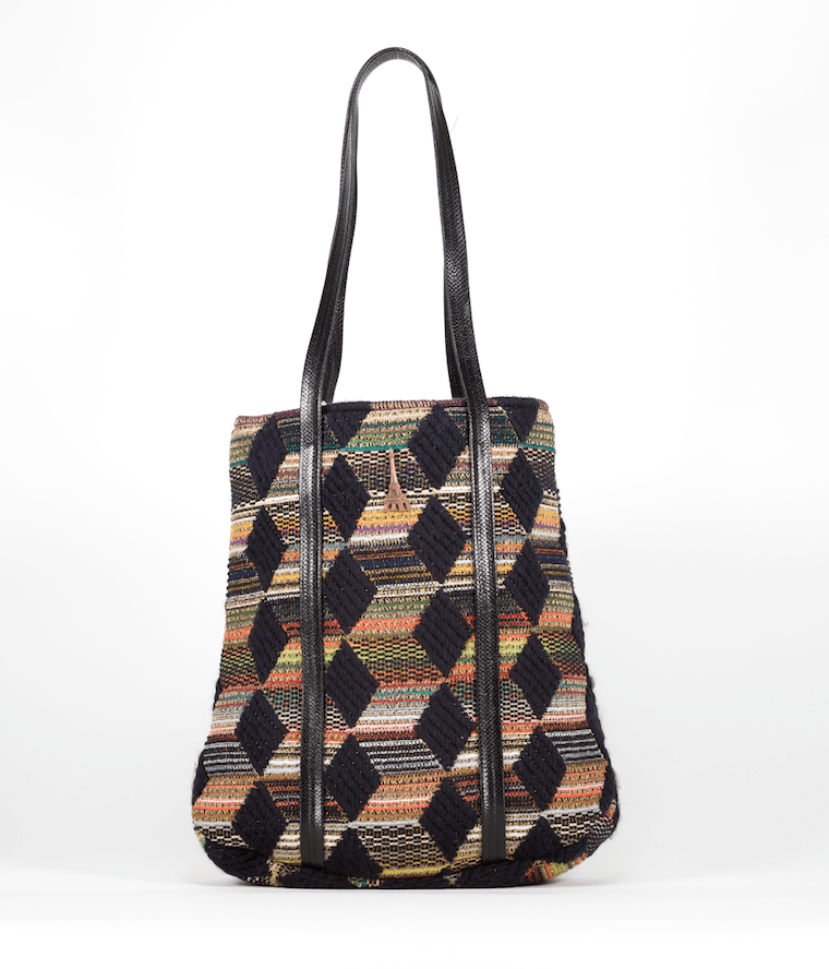 Sac Honorine Evesome en tweed et cuir - Honorine Evesome bag in tweed and leather
