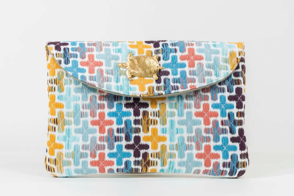 Pochette Louise Evesome en tweed d'été - Louise Evesome summer tweed clutch