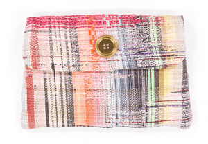Pochette Séverin Evesome en tweed d'été - Séverin Evesome summer tweed clutch