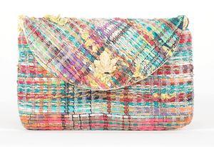 Pochette Sylvestre Evesome en tweed d'été - Sylvestre Evesome summer tweed clutch