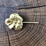 Barrette Pensée dorée Evesome - Golden Thought flower Barrette Evesome