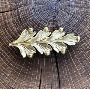 Broche Feuille d'Acanthe dorée Evesome - Golden Acanthus Leaf Brooch Evesome