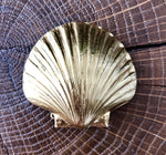 Broche Maxi Coquille Saint Jacques dorée Evesome - Maxi Brooch Golden scallop shell Evesome