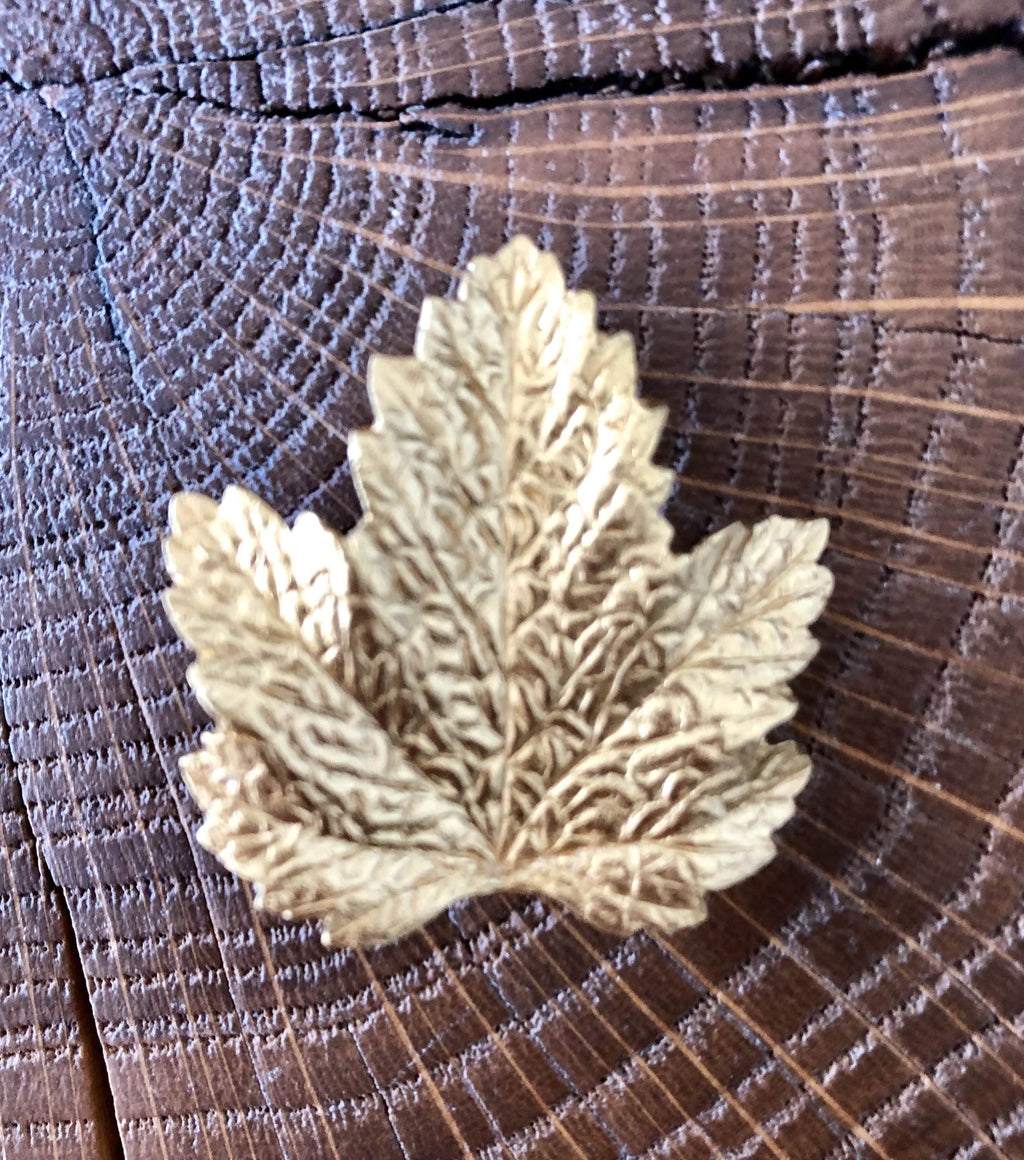 Broche Evesome feuille de vigne dorée - Evesome brooch with golden grape leaf