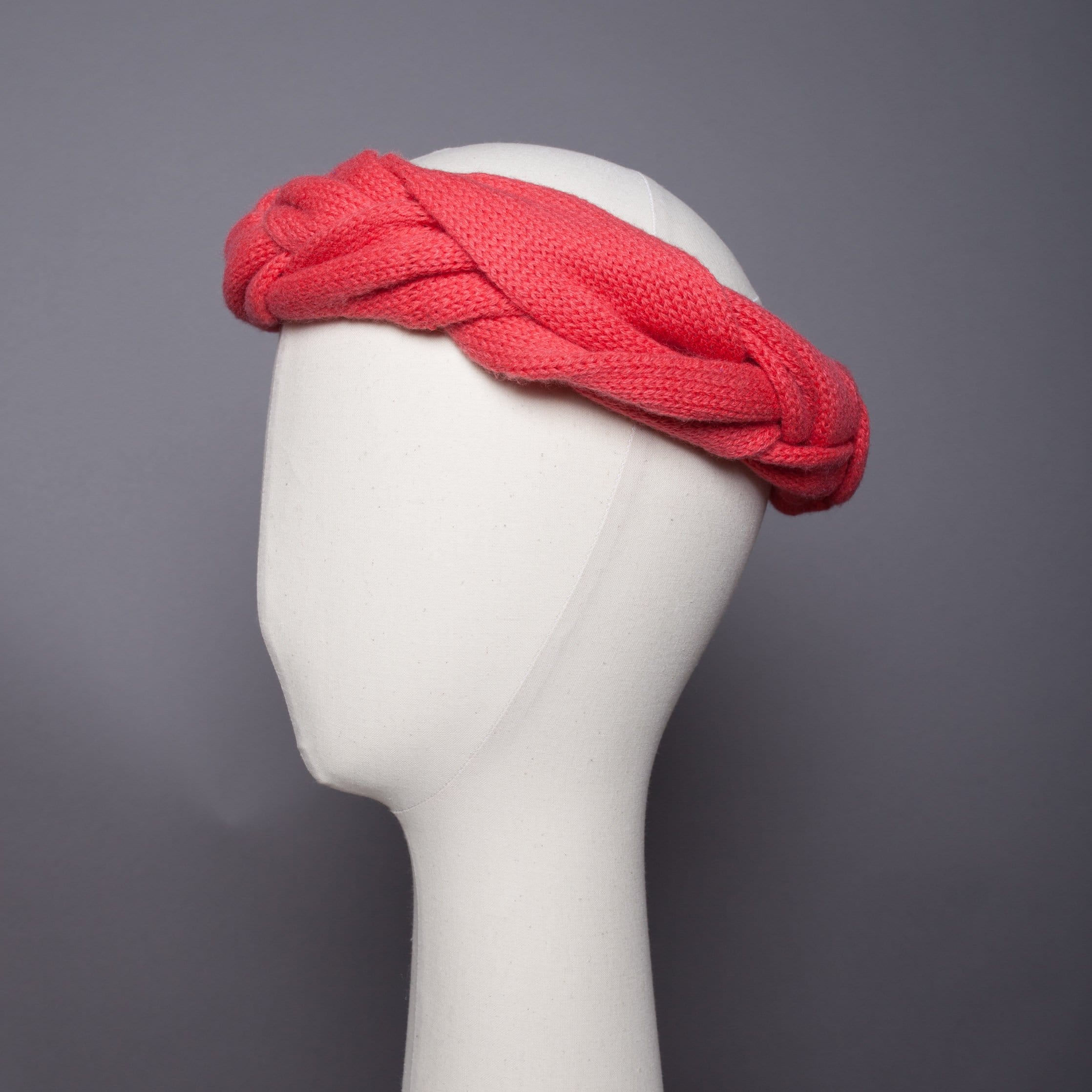 Headband tressé Evesome maille mousseuse 100% cachemire - Braided headband Evesome 100% cashmere frothy mesh