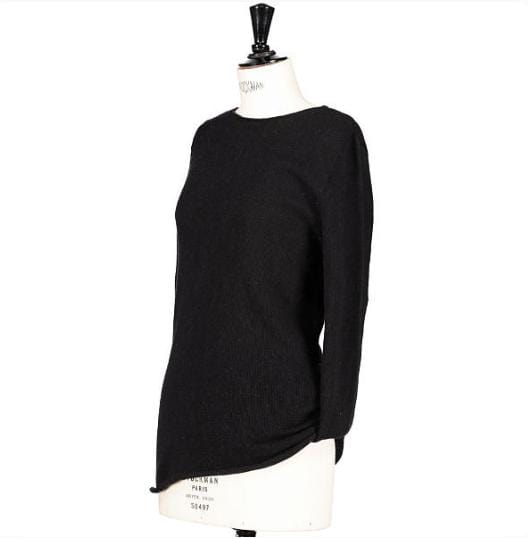Pull col rond maille mousseuse 100% cachemire
