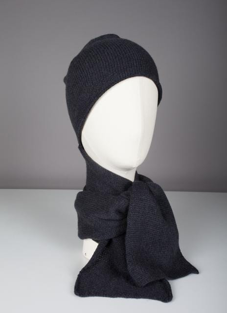 Écharpe-bonnet Evesome maille serrée 100% cachemire - Evesome 100% cashmere tight-knit hat scarf