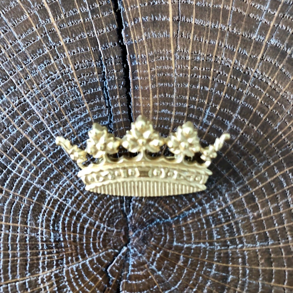Broche couronne dorée Evesome - Evesome golden crown brooch