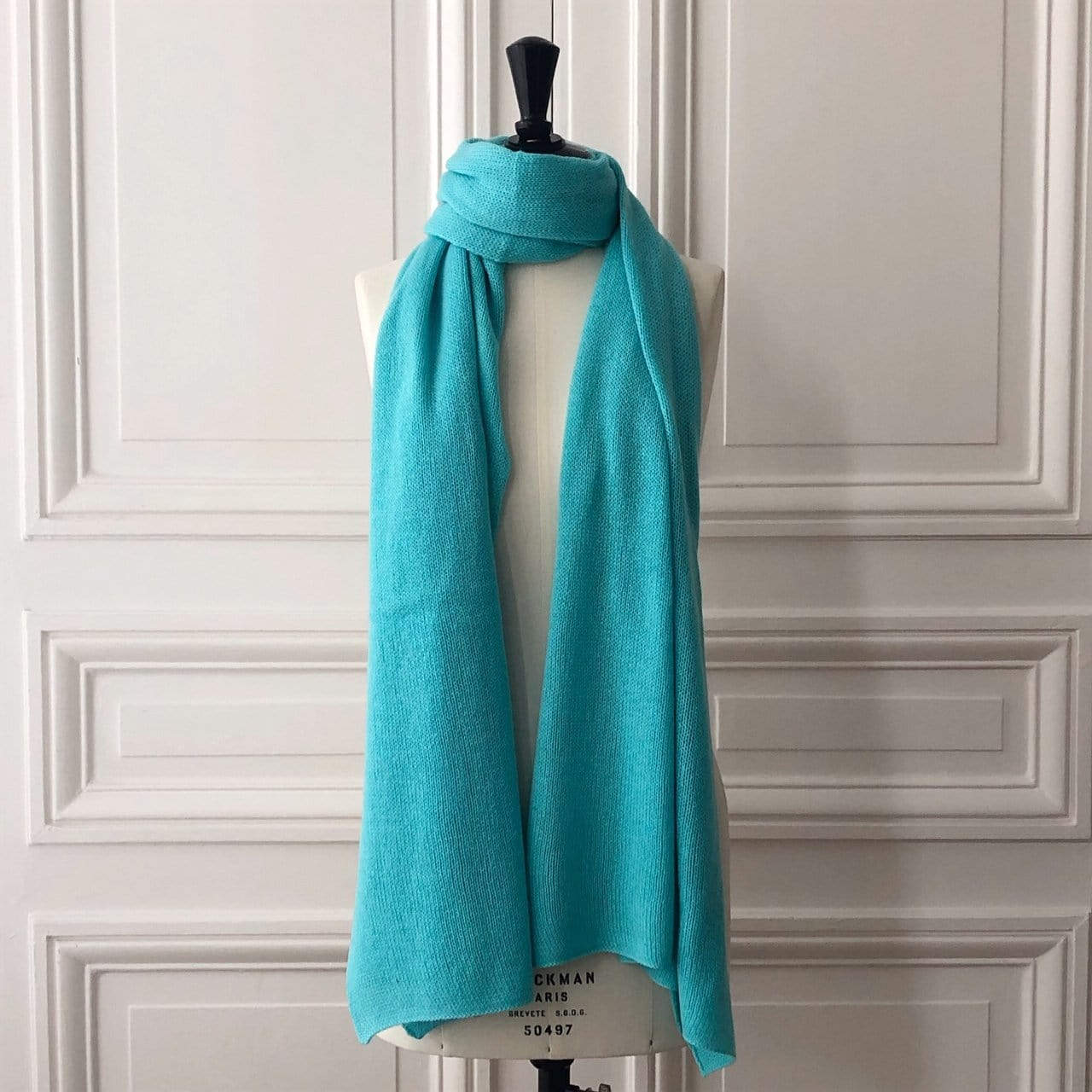 Echarpe Evesome maille mousseuse 200x60 cm 100% cachemire - Evesome scarf foamy mesh 200x60 cm 100% cashmere