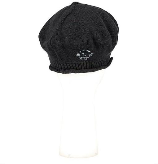 Béret maille serrée Evesome 100% cachemire avec broderie Mr Robot - Evesome 100% cashmere tight-knit beret with Mr Robot embroidery