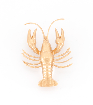 Broche Langouste dorée Evesome - Golden spiny crab spike Evesome