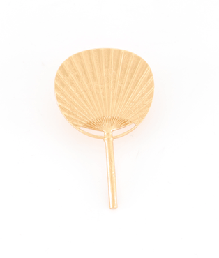Broche Eventail dorée Evesome - Evesome golden fan brooch